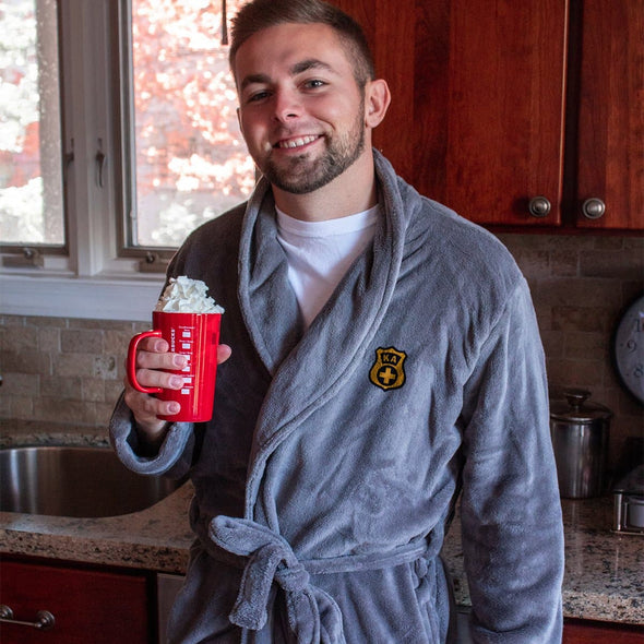 Lambda Chi Charcoal Ultra Soft Robe