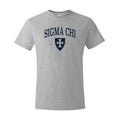 New! Sigma Chi Heather Gray Symbol Tee