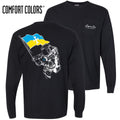 Sigma Chi Comfort Colors Black Astronaut Long Sleeve Pocket Tee