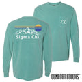 Sigma Chi Retro Mountain Comfort Colors Tee