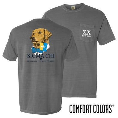 Sigma Chi Comfort Colors Retriever Flag Tee