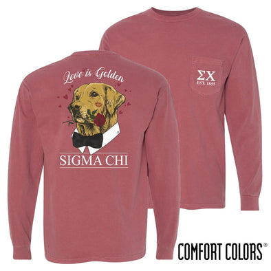 Sigma Chi Comfort Colors Sweetheart Retriever Tee