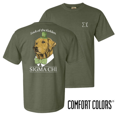 Sigma Chi Comfort Colors Lucky Retriever Tee