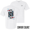 Sigma Chi Comfort Colors White King of Hearts Short Sleeve Tee