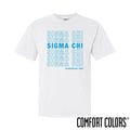 Sigma Chi Comfort Colors White Thank You Bag Tee