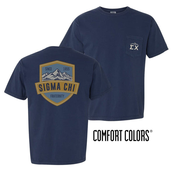 Sigma Chi Comfort Colors Mountain Pocket Tee