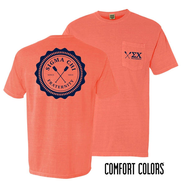 Sigma Chi Coastal Comfort Colors Pocket Tee