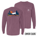 Sigma Chi Comfort Colors Berry Retro Wilderness Long Sleeve Pocket Tee