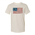 Sigma Chi Natural Retro Flag Tee