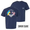 Sigma Chi Comfort Colors Short Sleeve Navy Patriot tee