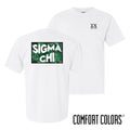 Sigma Chi Comfort Colors White Short Sleeve Jungle Tee