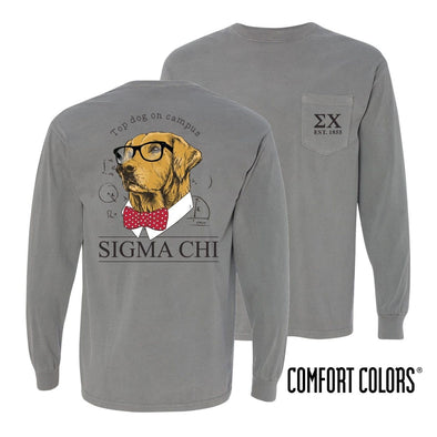 Sigma Chi Comfort Colors Campus Retriever Pocket Tee