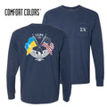 Sigma Chi Comfort Colors Long Sleeve Navy Patriot tee