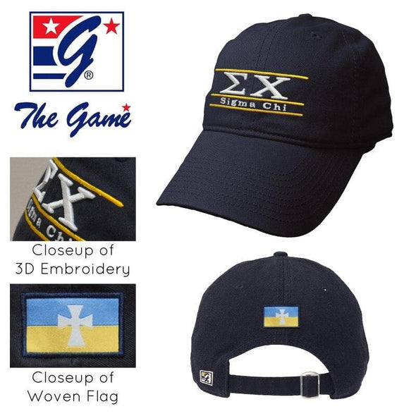 Clearance! Sigma Chi Navy Ultimate Hat by The Game®