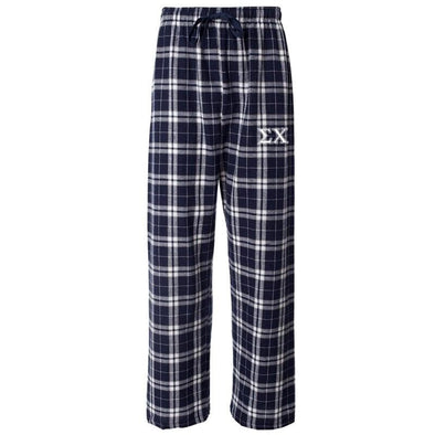 Sigma Chi Navy Plaid Flannel Pants