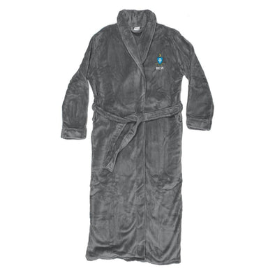 Sigma Chi Personalized Charcoal Ultra Soft Robe