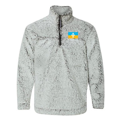 New! Sigma Chi Flag Sherpa 1/4 Zip Pullover