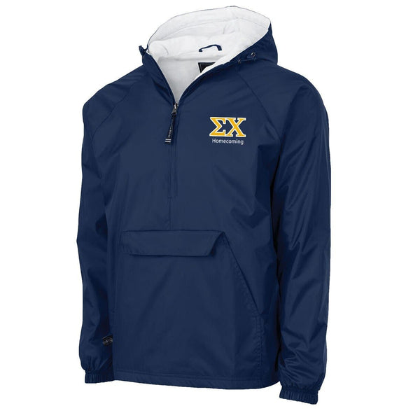 Sigma Chi Personalized Charles River Navy Classic 1/4 Zip Rain Jacket