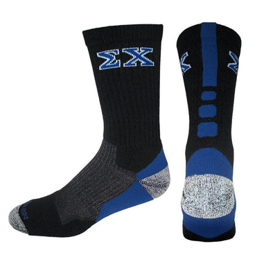 Sigma Chi Black & Royal Performance Shooter Socks