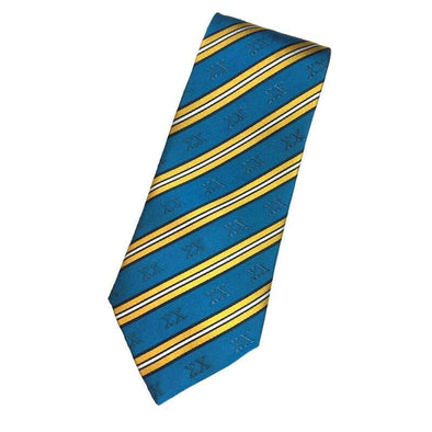 Sale! Sigma Chi Blue and Gold Striped Silk Tie