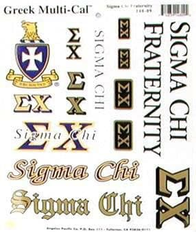 Sigma Chi Sticker Sheet