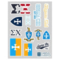 Sigma Chi Classic Sticker Sheet