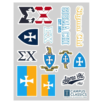 New! Sigma Chi Classic Sticker Sheet