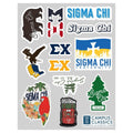Sigma Chi Graphic Sticker Sheet