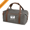 Sigma Chi Personalized Gray Canvas Duffel