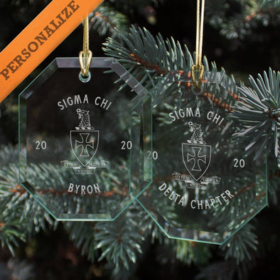 New! Sigma Chi 2020 Personalized Limited Edition Holiday Ornament