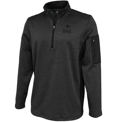 SAE Heather 1/4 Zip Performance Sweatshirt