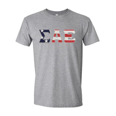 SAE Stars & Stripes Sewn On Letter Tee