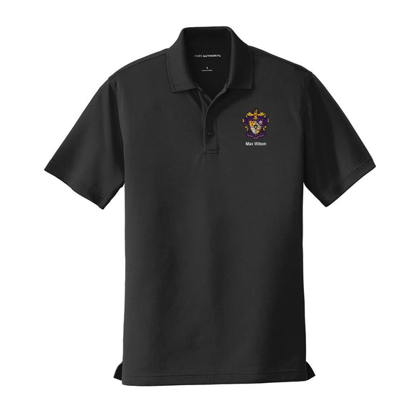 Personalized SAE Crest Black Performance Polo