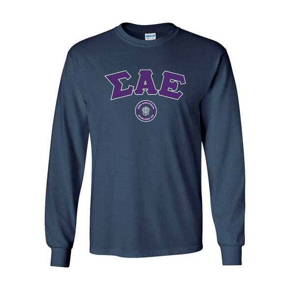 SAE Navy Vintage Long Sleeve Tee