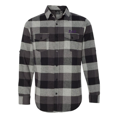 Clearance! SAE Black Plaid Flannel Shirt