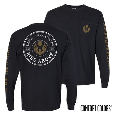 Sale! New Exclusive Item! SAE Comfort Colors Logo Long Sleeve Tee