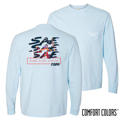 SAE Comfort Colors Chambray Long Sleeve Urban Tee