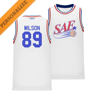 SAE Personalized Retro Swish Basketball Jersey