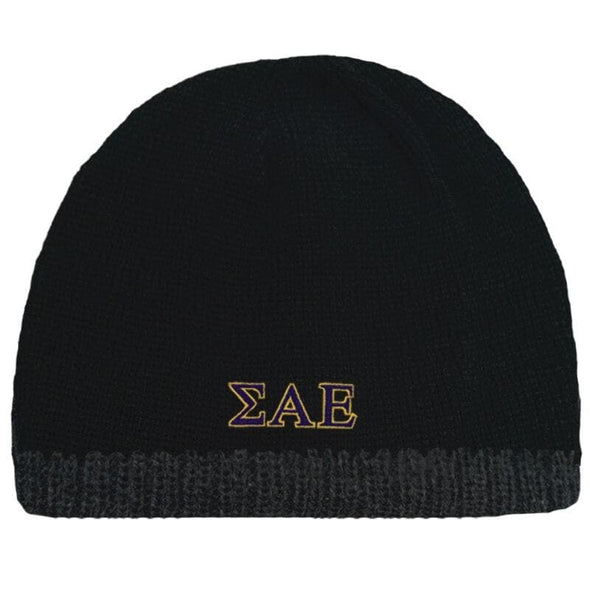 Sale! SAE Black Knit Beanie with Fleece Lining