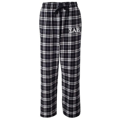 SAE Black Plaid Flannel Pants