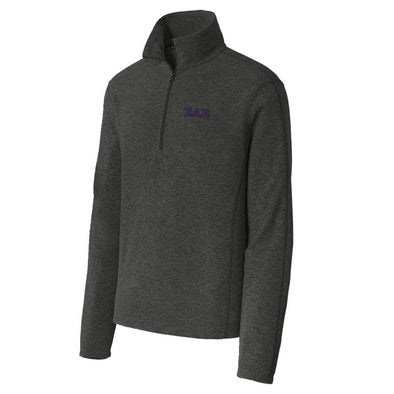 SAE Charcoal 1/4-Zip Microfleece Jacket