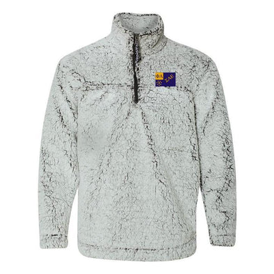 SAE Flag Sherpa 1/4 Zip Pullover