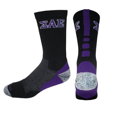 SAE Black & Purple Performance Shooter Socks