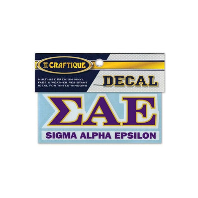SAE Greek Letter Decal
