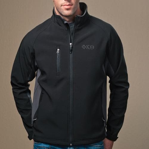 Clearance Priced! Phi Kap Black and Gray Soft Shell Jacket