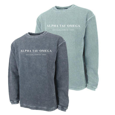 New! ATO Charles River Corded Crew Sweatshirt
