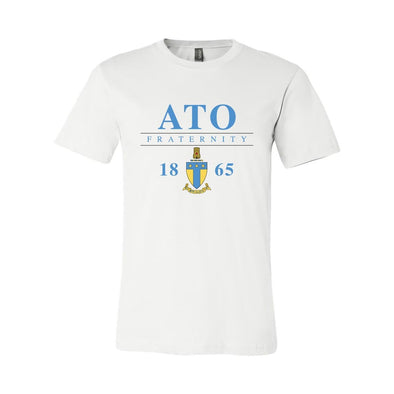 New! ATO Classic Crest Short Sleeve Tee