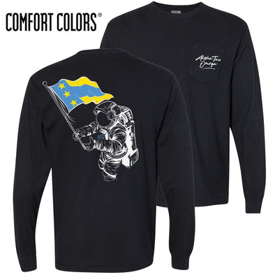 ATO Comfort Colors Black Astronaut Long Sleeve Pocket Tee