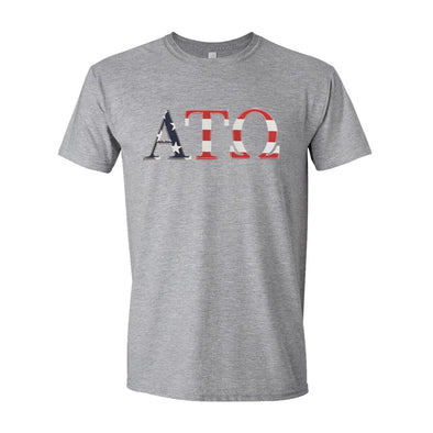 ATO Stars & Stripes Sewn On Letter Tee