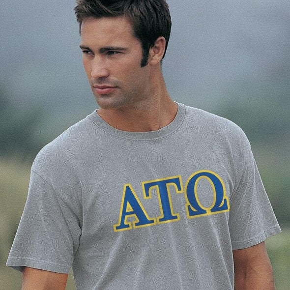 ATO Heather Gray Greek Letter Tee